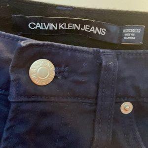 Solid navy Calvin Klein jeans